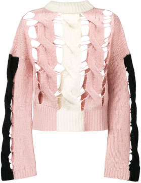 Circus Hotel cut out knitted jumper