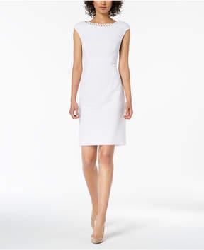 Connected Embellished Sheath Dress