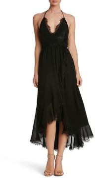 Dress the Population Women's Gia Backless Chiffon Wrap Dress
