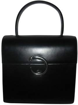Cartier Vintage Panthere Black Leather Handbag