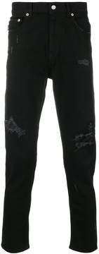 Love Moschino distressed skinny trousers
