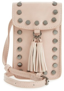 Bp. Studded Phone Crossbody Bag - Pink