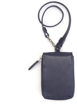 Royce Leather ROYCE RFID Blocking Zippered Key Case Wallet in Saffiano Leather