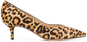 Gianvito Rossi pointed leopard pumps