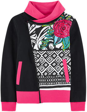 Desigual Zip sweatshirt with sequins