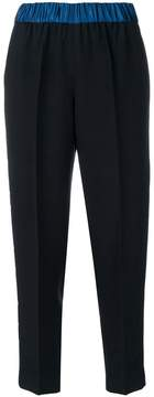 Forte Forte contrast waistband cropped pleated trousers