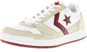 Converse Men's Point Man Ox White / Red Ankle-High Fabric Fashion Sneaker - 8.5M