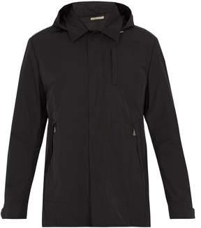 Bottega Veneta Detachable-hood intrecciato leather-trimmed jacket