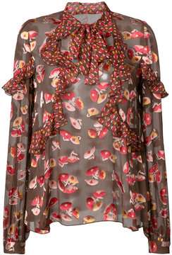 Anna Sui all over print blouse