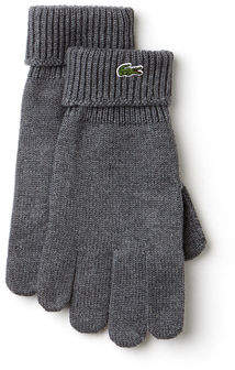 Lacoste Men's Green Croc Wool Gloves