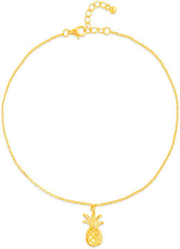 Bliss 14k Gold-Plated Pineapple Single-Charm Anklet