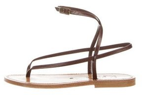 K Jacques St Tropez Delta Embossed Sandals w/ Tags
