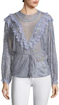 Alice McCall Women's Picture This Metallic Mesh Lace Blouse