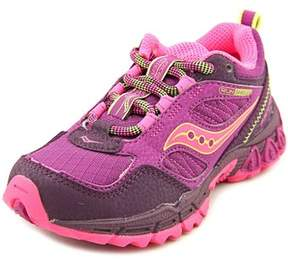 Saucony Excursion Youth Round Toe Leather Purple Running Shoe.