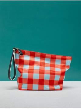 Diane von Furstenberg | Printed Origami Wristlet | Cossier bold red