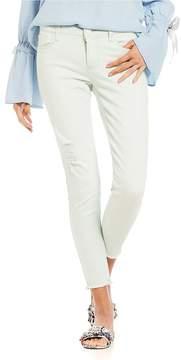 Celebrity Pink Destructed Frayed Hem Ankle Skinny Jeans
