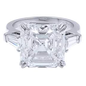White Platinum Solitaire Ring