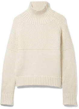 Burberry Dawson Cashmere Turtleneck Sweater - Off-white