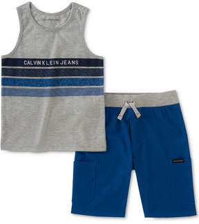 Calvin Klein 2-Pc. Striped Tank Top & Shorts Set, Toddler Boys