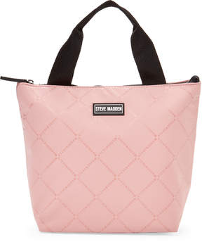 Steve Madden Blush Logo Insulated Lunch Tote