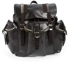 Junya Watanabe Studded Faux Leather Backpack - Black