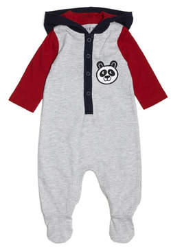 GUESS Footed Logo Coverall (0-12M)