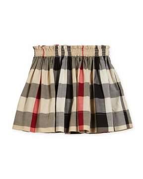 Burberry Hala Check Skirt, Size 4-14