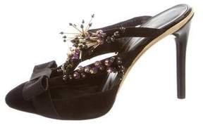 Oscar de la Renta Laiana Embellished Mules