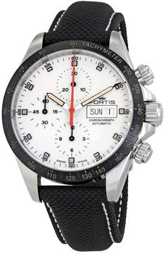 Fortis Stratoliner Ceramic A.M. White Dial Men's Performance Leather Watch