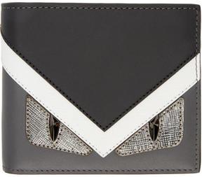Fendi Black and Grey Bag Bugs Wallet