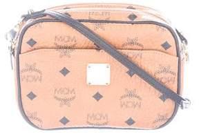 MCM Leather-Trimmed Visetos Crossbody Bag