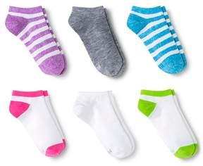 Hanes Premium Girls' Athletic Socks 6 Pack