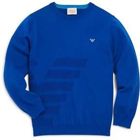 Armani Junior Boys' Textured Logo Sweater - Little Kid, Big Kid