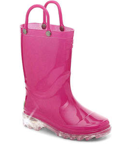 Western Chief Girls Lighted Toddler & Youth Light-Up Rain Boot