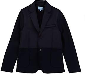 Lanvin KIDS' BONDED-JERSEY & PIQUÉ TWO-BUTTON SPORTCOAT