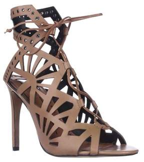 Dolce Vita Helena Cut-out Lace-up Dress Sandals, Caramel Leather.