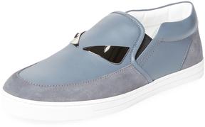 Fendi Men's Moc Toe Slip-On Loafer
