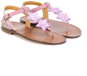Pépé star embroidered sandals