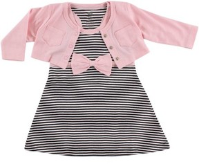 Hudson Baby Girl Cardigan and Racerback Dress