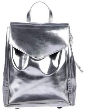 Loeffler Randall Metallic Leather Backpack
