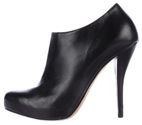 Christian Dior Leather Semi-Pointed Toe Booties