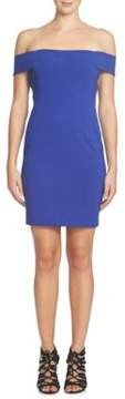 Cynthia Steffe Margot Off-the-Shoulder Ponte Sheath Dress