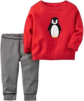 Carter's Baby Boys Penguin Sweater Set