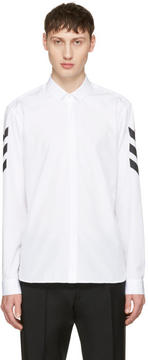 Neil Barrett White Chevron Sleeve Shirt