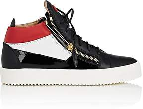 Giuseppe Zanotti Men's Double-Zip Colorblocked Leather Sneakers