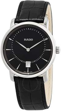 Rado DiaMaster Quartz Black Dial Ceramic Men's Watch