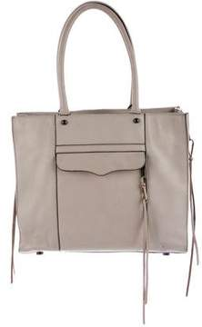 Rebecca Minkoff Leather Zip-Accented Tote - NEUTRALS - STYLE