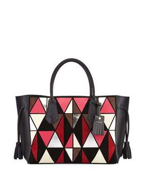 Longchamp Penelope Arty Medium Tote Bag - RED - STYLE