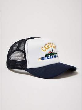 Topman Mens Navy 'Casco Bay' Trucker Cap