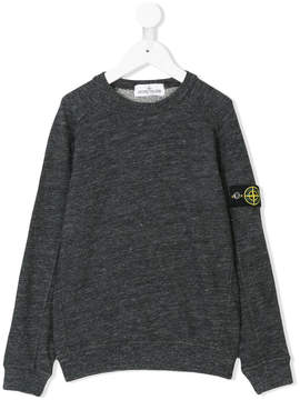 Stone Island Junior melange logo sweatshirt